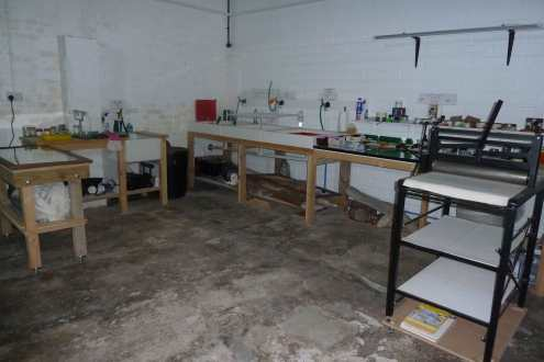 Ops Room - Art Space - ongoing works; floor, shelving etc